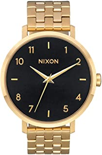 Nixon Women's Arrow Japanese-Quartz Watch with Stainless-Steel Strap, Black, 17 (Model: A10902042)
