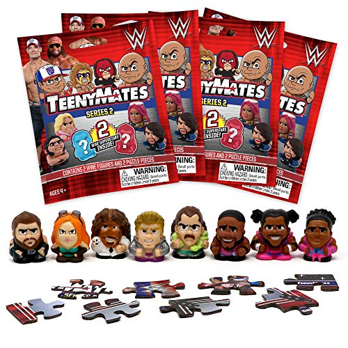 Teenymates Party Animal WWE Series 2 Mini Figures Blind Bags Gift Set Party Bundle - 4 Pack