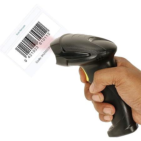 NISHICA Laser Barcode Scanner, Handheld 1 D USB Wired Barcode Reader Optical Laser High Speed for POS System Supermarket