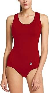Women's Conservative Athletic Racerback One Piece Training Swimsuit Swimwear Bathing Suit