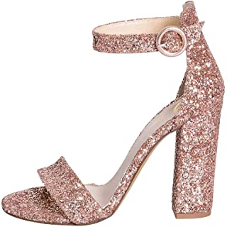Elegante damesschoenen met sandalen maat 39 schoen van kalfsleer, gemaakt in Italië, hoogte 10 cm, met riem uit de koffie,...