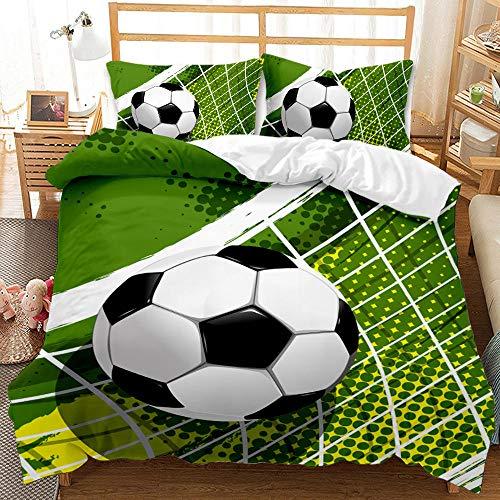 Bedclothes-Blanket Juego de sabanas Cama 90 Juveniles,Dibujo Digital 3D Bosquejo de 3 Piezas Ropa de Cama de 3 Piezas Fútbol-6_180 * 220cm