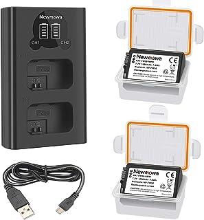 Newmowa NP-FW50 Batería de Repuesto (Paquete de 2) y Smart LCD Cargador Dual USB para Sony NP FW50 Sony Alpha a3000 Alpha a5000 Alpha a6000 a6100 a6300 a6500 Alpha 7 a7Alpha 7R