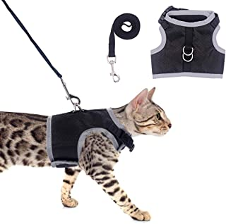 OFPUPPY Escape Proof Cat Harness and Leash - Reflective Cat Vest Harness Best for Walking