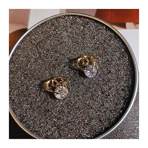 Xx101 Simple Prevent Allergy Earrings Silver Color Wave Twist Bowknot Round Circle Zircon Crystal Earrings For Women Pendientes Nixx0