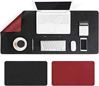 Large Desk Pad 90x40cm, Double-Sided Desk Mat, PU Leather Gaming Mouse Pad for PC Laptop, Waterproof Mouse Keyboard Mat, N...