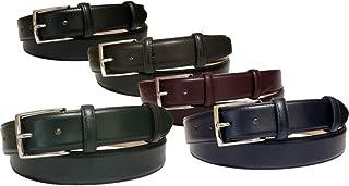 ESPERANTO Cintura in Vitello Seta Liscio con Fodera in Fiore Nabuk, altezza 3,5 cm