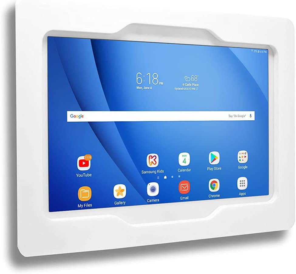 TABcare Security Anti-Theft Acrylic VESA Enclosure for Amazon Tablet with Free Wall Mount Kit (White, HD 6)