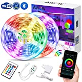 Led Streifen Wifi 10M, Wifi Led Strip IP65, Wifi Led Band, Lichtband, steuerbar via App und Ferbedienung, 16 Millionen Farben, Kompatibel mit Alexa Google Home, Stimmenkontrolle