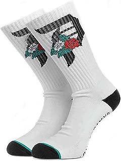 Primitive Men's Dos Flores Crew Socks White