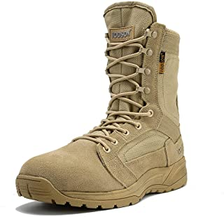 IODSON Men's Ultralight Combat Boots, Breathable Military Boots, Special Force Training Shoes, Shock-Absorbing Tactical Boots …
