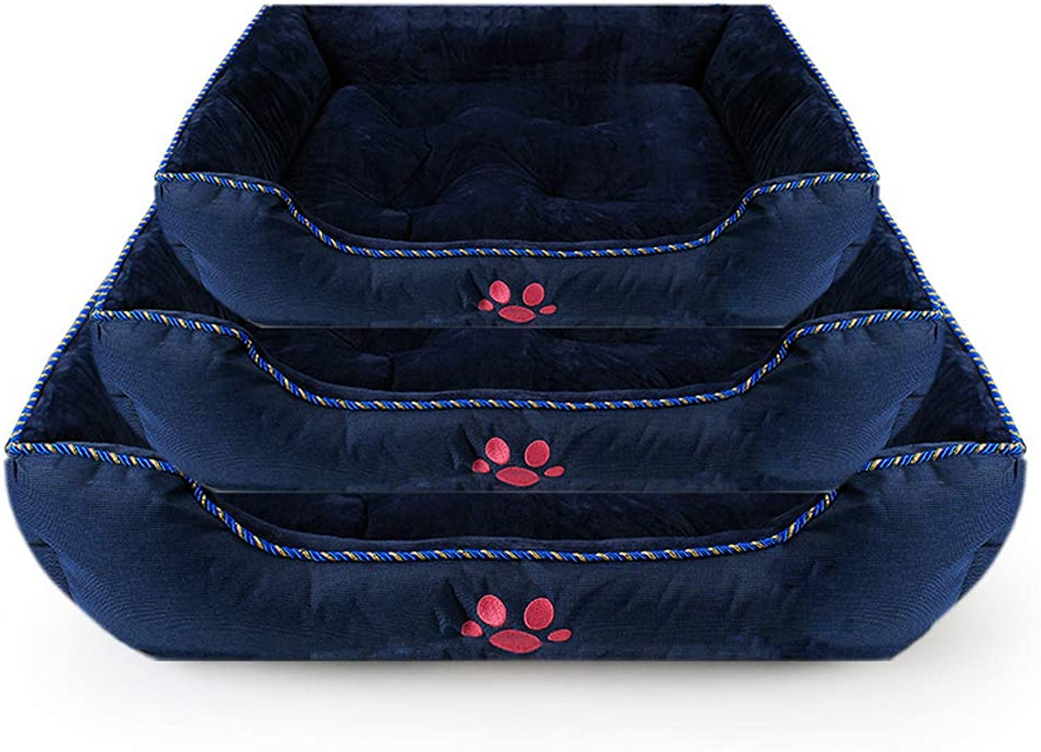Dog Bed Soft Waterproof Washable Hardwearing Basket,Three in One to Meet The Needs of Different Age Groups of Pets