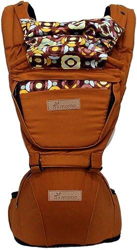 voitureE Ergonomique Porte-bébé Ergonomique Porte-bébé Avant et arrière en Coton Doux avec Capuchon Amovible for Toutes Les Saisons (de 0 à 48 Mois) pour Les Enfants Voyage ( Couleur   marron )