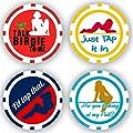 DA VINCI Golf Ball Marker Poker Chip Collection, 11.5 Gram Chips (4-Pack-A)
