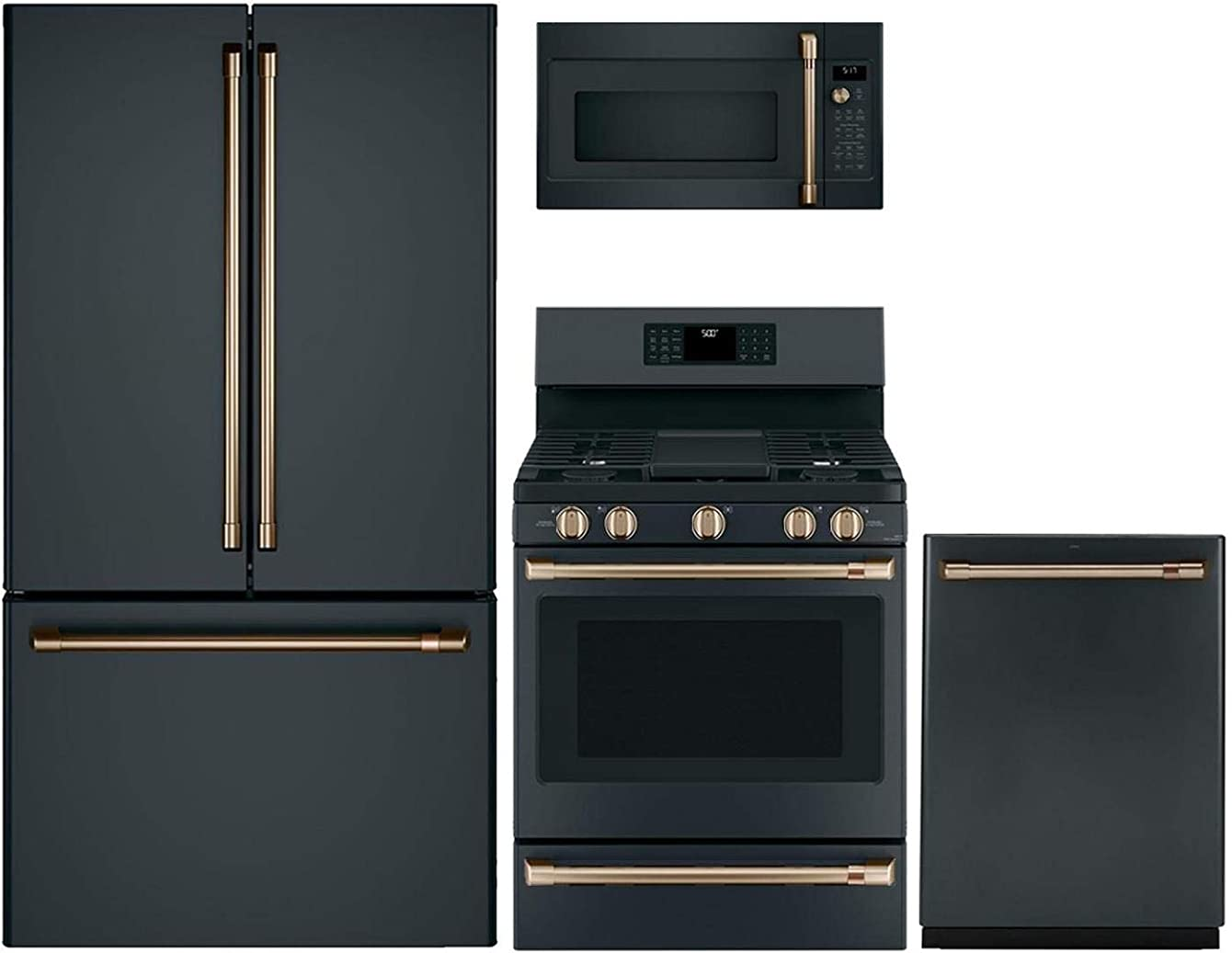 GE Cafe 4 Piece Kitchen Package CWE23SP3MD1 36