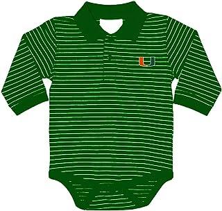 Two Feet Ahead NCAA College Newborn Infant Long Sleeve Golf Polo Bodysuit Creeper