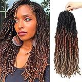 18Inch NU Faux Locs Hair Soft Locs Crochet Braids Hair 6 Packs/lot Fiber...