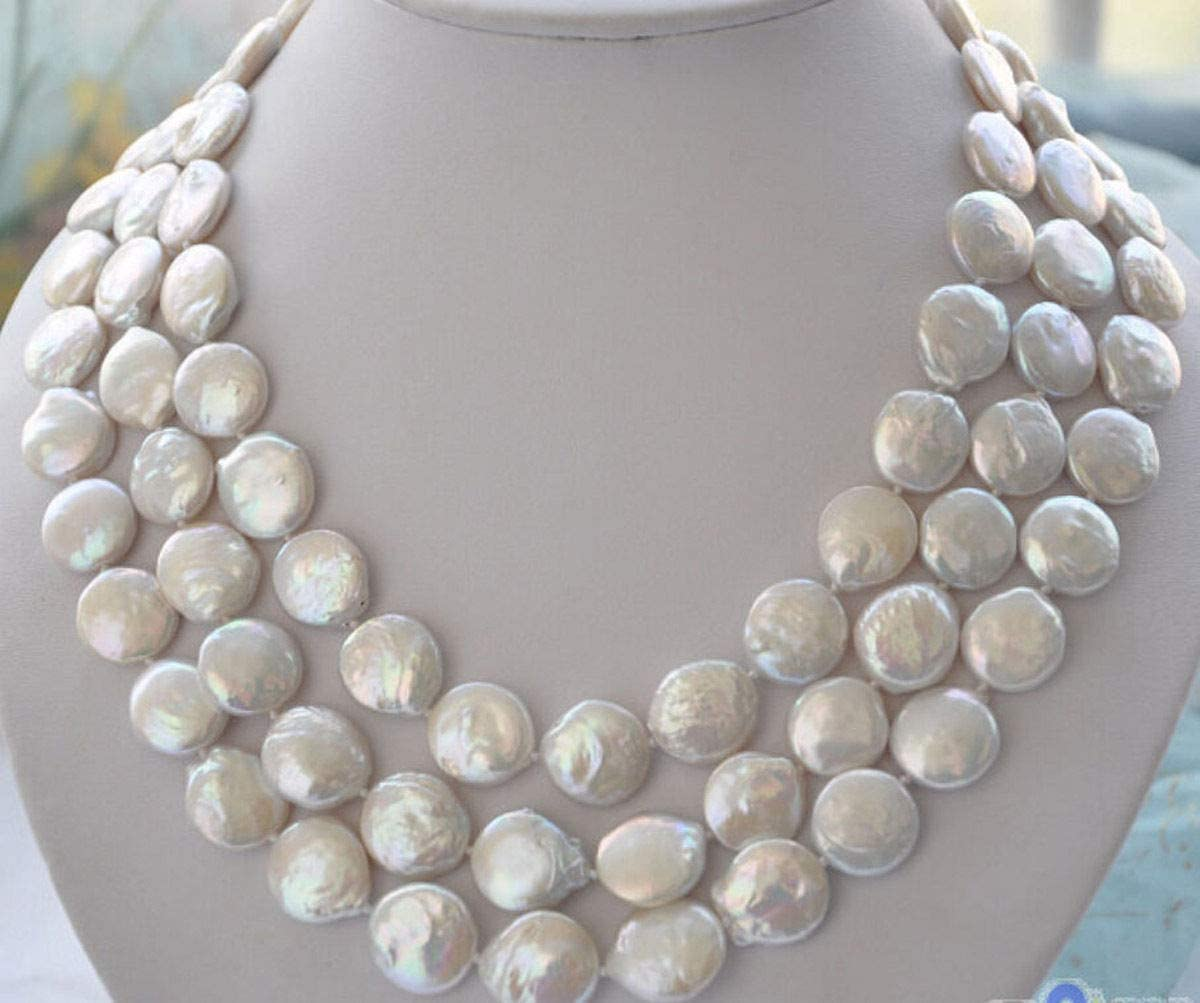 FidgetKute Charming 11-12mm White Recommended Ranking TOP9 Pearl Freshwater Coin Necklace