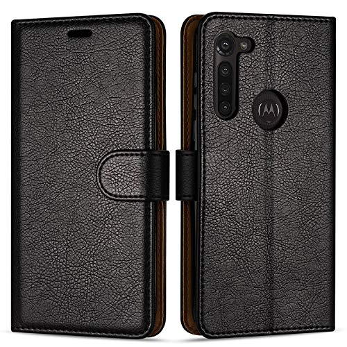 Hülle Collection Hochwertige Leder hülle für Motorola Moto G8 Power Hülle (6,4