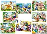 alles-meine.de GmbH 8 TLG. Set: Mini Puzzle / Minipuzzle 24 Teile - Märchen / Tiere - für Kinder...