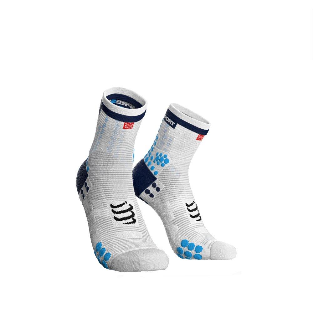 Compressport 男女通用 马拉松越野跑跑步户外运动袜3D豆豆袜高帮袜V3.0版 CS-RSHV3