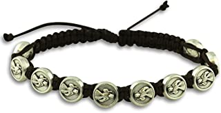 Gifts Catholic, Inc. Divine Mercy Jacobs Ladder Style Adjustable Rosary Bracelet