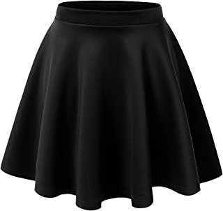 Made By Johnny Women's Basic Versatile Stretchy Flared Casual Mini Skater Skirt XS-XXL Plus Size-Made in USA