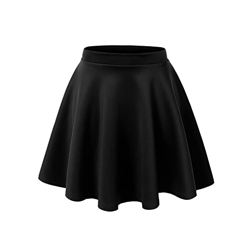 0989d7f05 Made By Johnny Women's Basic Versatile Stretchy Flared Casual Mini Skater  Skirt XS-3XL Plus