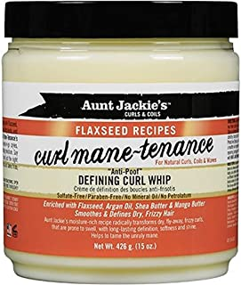 Aunt Jackie's Flaxseed Recipes Curl Mane-tenance Defining Curl Whip 15 oz. (Pack of 2)