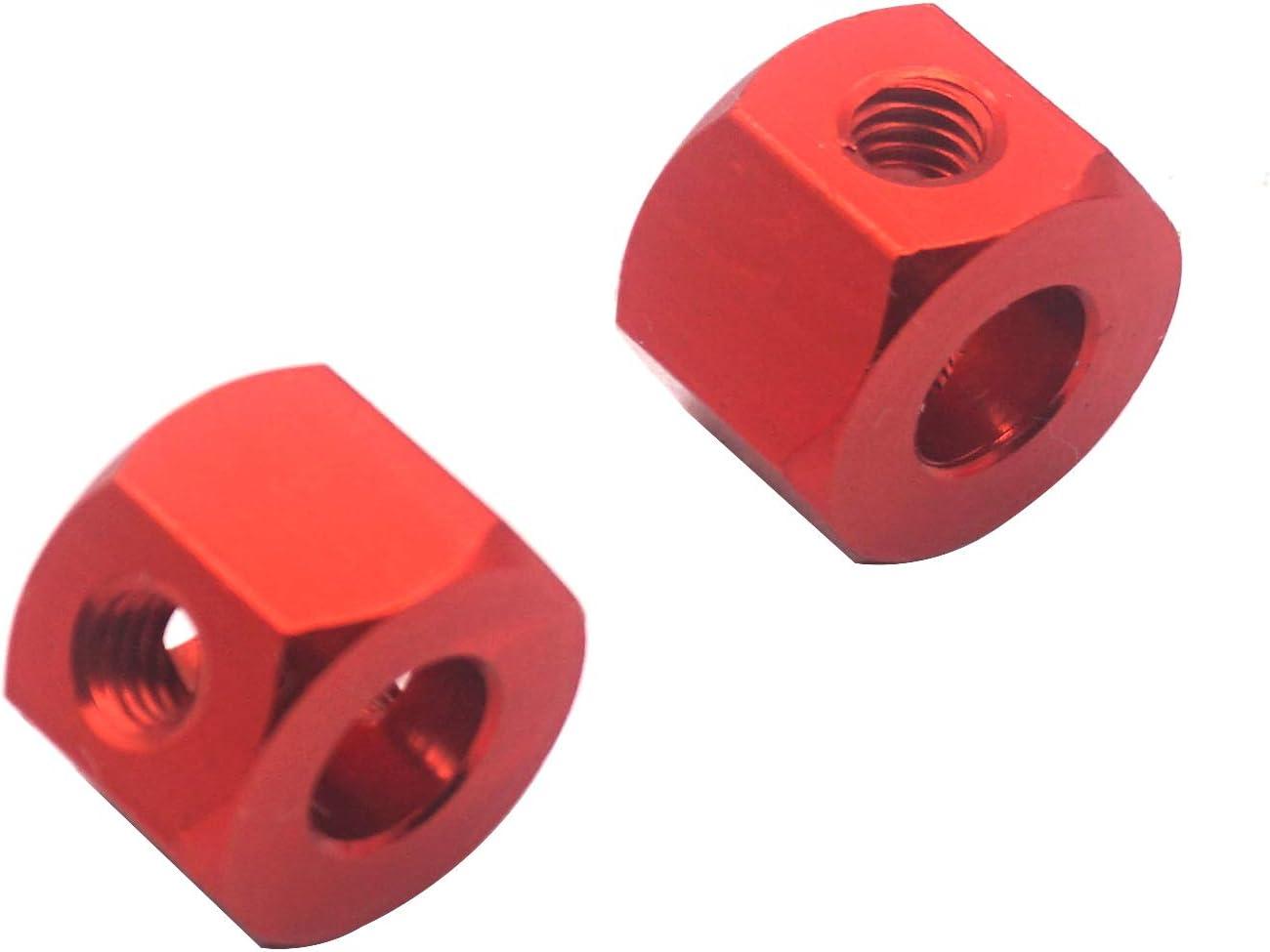 Mirthobby 4Pack 12mm Metal Wheel Hex Hub Adapter Connector for WPL B14K C-14 C-24 1//16 MN-D90 MN-D90K MN45 MN99 1//12 RC Car Truck Red