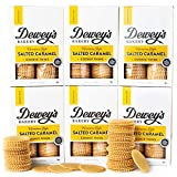Dewey's Bakery Salted Caramel Moravian Cookie Thins | Baked in Small Batches | Real, Simple Ingredients | Southern Bakery Recipes | Pack of 6 9-oz boxes