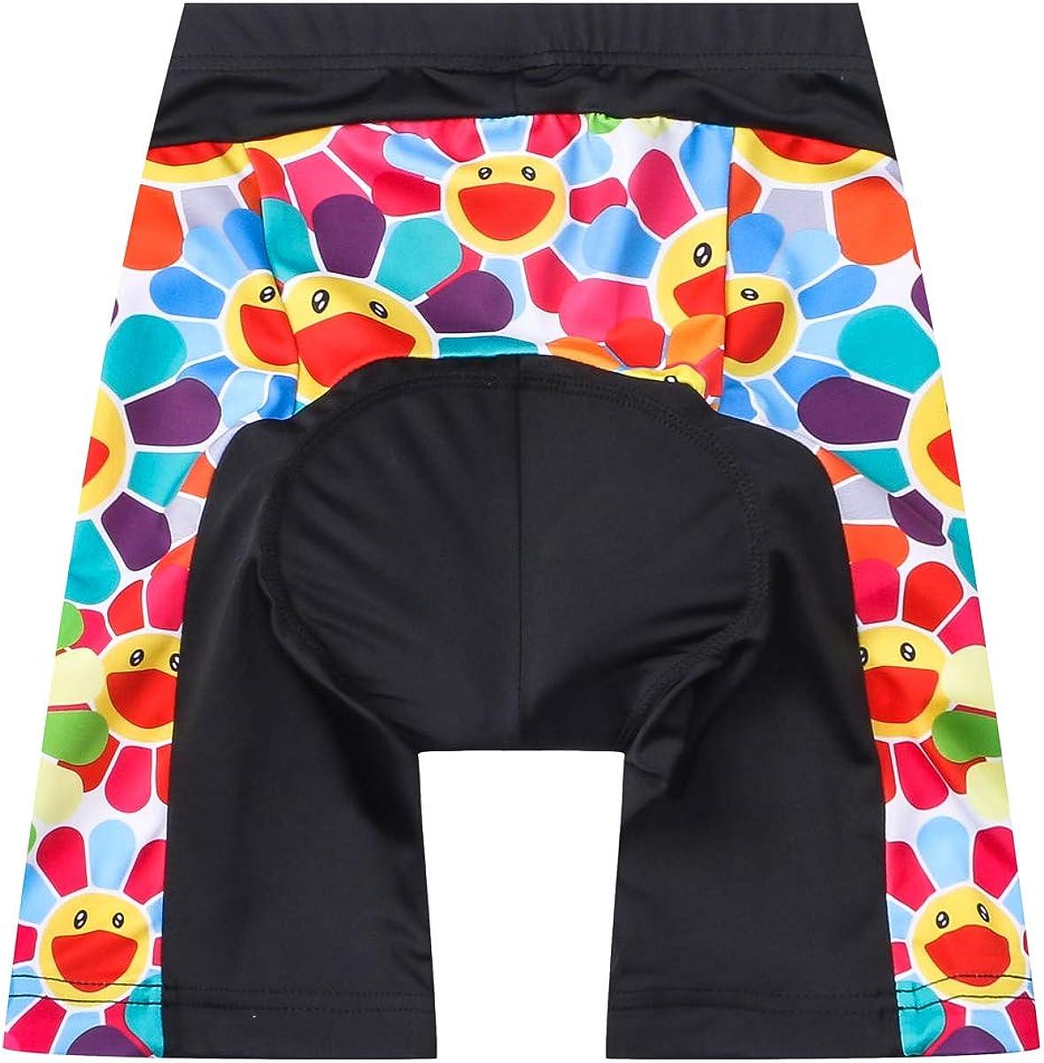 JPOJPO Cycling Bike Shorts Children Bicycle Riding Half Pants 4D Gel Padded Cycle Wear Tights