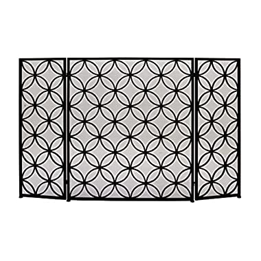 Deco 79 50377 Striking Metal Fire Screen, 48  W x 30  H