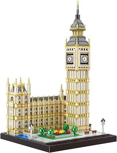 3600 Mini batiHommests Elizabeth Tower Big Ben modèle Micro Bricolage Mini batiHommest Nano Bloc 3D Assemblage de Jouets