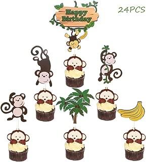 monkey cupcake decorations