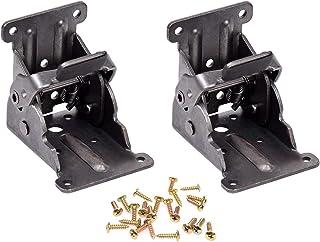 Magiin 2PCS Bisagras Plegables con Tornillos Acero Inoxidable para Patas de Muebles Cama Mesa Armario Estantes Soporte Invisible Simple
