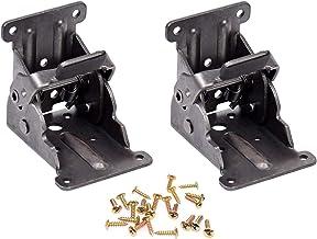 Magiin 2 Pack Vouwen Lock Extension Tafel Bed Been Voeten Ondersteuning voor Donker Brons Staal Opvouwbare Scharnier Hardw...