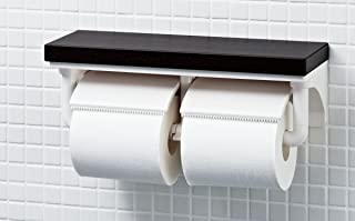 LIXIL(リクシル) INAX トイレ用 棚付2連紙巻器 クリエモカ CF-AA64KU/LM
