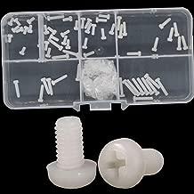 White Nylon Pan Head Machine Screw Nut Metric Thread Round Head Bolt Assortment Set Kit 160pcs M2