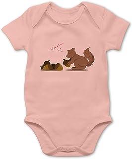 Shirtracer Tiermotive Baby - Eichhörnchen True Love - Baby Body Kurzarm für Jungen und Mädchen