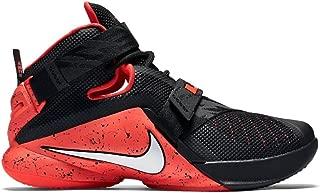 Nike Men's Lebron Soldier IX Basketball Shoes (12 M US, Black/White/Bright Crimson)
