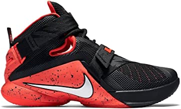 Nike Men's Lebron Soldier IX Basketball Shoes (12 M US, Black/White/Bright Crimson)