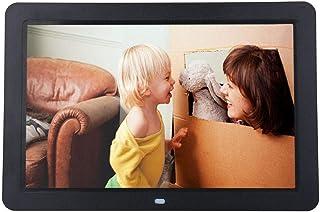 LKJCZ Cadre Photo Num/érique 1080 /Écran De R/ésolution HD Et /À T/él/écommande Support USB//SD//MS//MMC//3,5 Mm Audio Port-Cadeau De No/ël 12 Pouces en M/étal Photo Num/érique Cadre-avec 1920