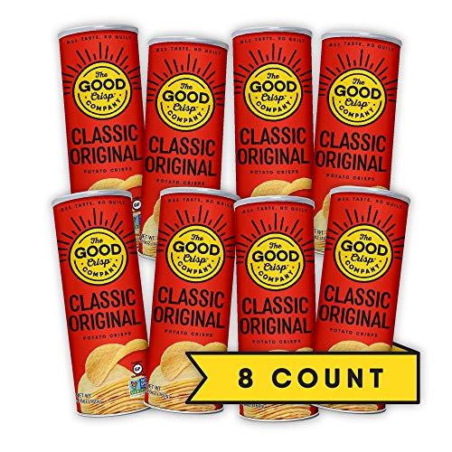The Good Crisp Company, Original Gluten Free Potato Chips (5.6oz, Pack of 8), Non-GMO, Allergen Friendly, Stacked Potato Chips, Gluten Free Snacks