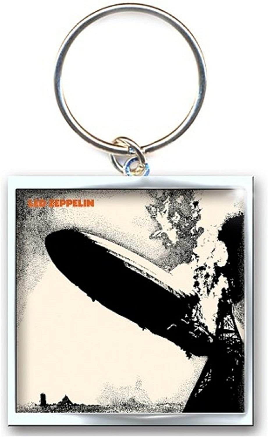 Led Zeppelin Keyring Keychain Zep 1 Band Logo Official Metal Size One Size
