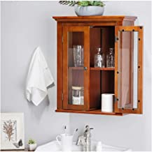 Glitzhome Wall Cabinet, Brown