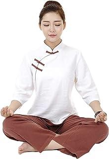 Tai Chi i medytacja damski kostium wykonany z bawełny i lnu strój do codziennego noszenia, J-S