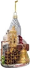 Kurt Adler C4109 Philadelphia Glass Cityscape Ornament, 5-Inch