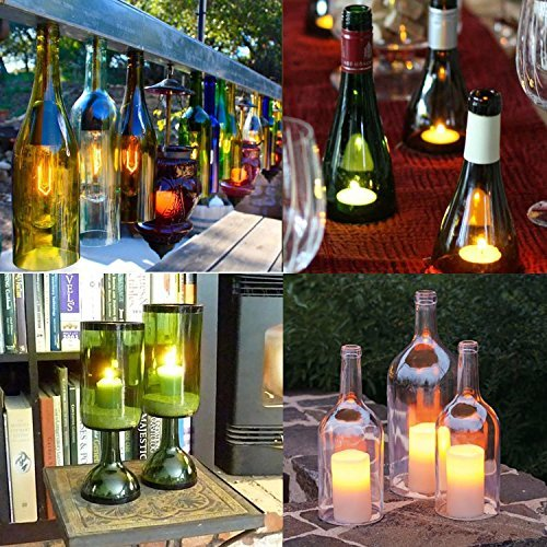Cortador durable de botellas de cristal cortador de vidrio máquina de corte de la botella de cerveza del vino fácil de crear arte funcional, mientras que el reciclaje de botellas y tarros