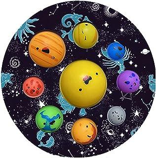 Foruoneis Simple Popper Fidget Dimple bubbelleksaker, Solar Planet System Dimple Figet Tillfredsställande leksaker, stress...